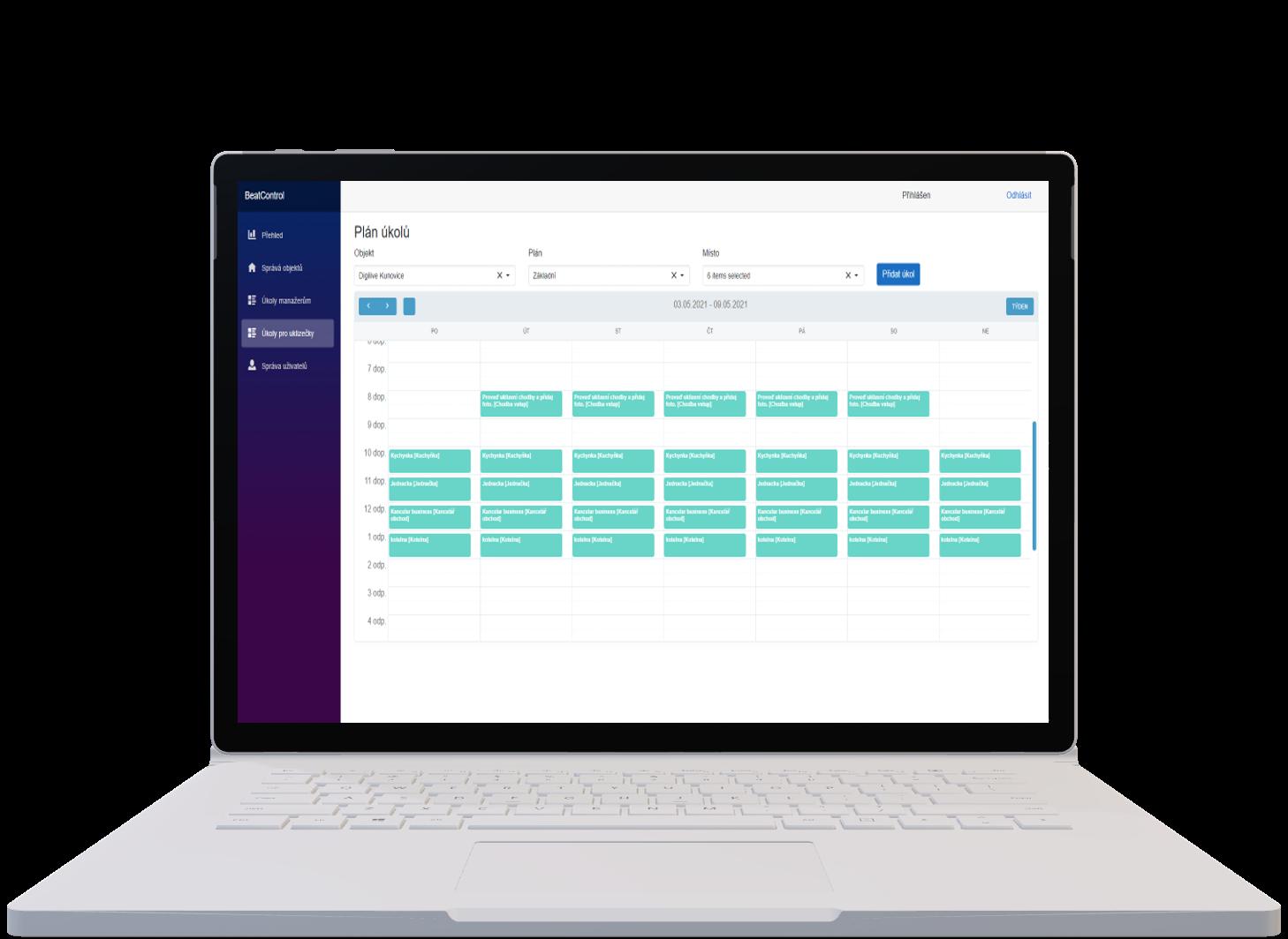Digitální platforma pro řízení a kontrolu procesů